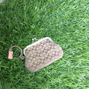 Coach mini coin holder keychain